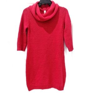Cherokee Red Cowl Neck Sweater Dress sz Girls XL